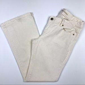 Michael Kors Ivory Stretch Denim Jeans Belt Buckle
